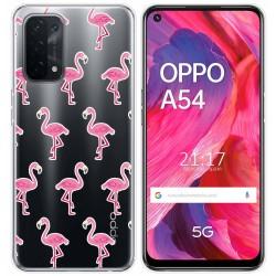 Funda Gel Transparente para Oppo A54 5G / A74 5G diseño Flamenco Dibujos