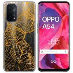 Funda Gel Transparente para Oppo A54 5G / A74 5G diseño Hojas Dibujos