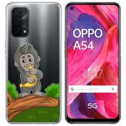 Funda Gel Transparente para Oppo A54 5G / A74 5G diseño Mono Dibujos