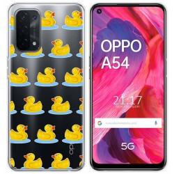 Funda Gel Transparente para Oppo A54 5G / A74 5G diseño Pato Dibujos