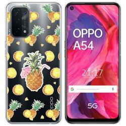 Funda Gel Transparente para Oppo A54 5G / A74 5G diseño Piña Dibujos