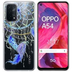 Funda Gel Transparente para Oppo A54 5G / A74 5G diseño Plumas Dibujos