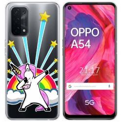 Funda Gel Transparente para Oppo A54 5G / A74 5G diseño Unicornio Dibujos