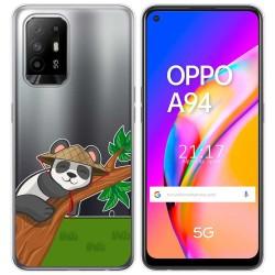 Funda Gel Transparente para Oppo A94 5G diseño Panda Dibujos