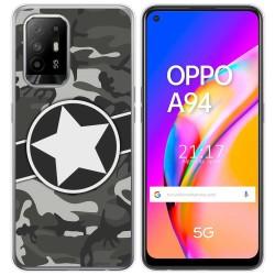 Funda Gel Tpu para Oppo A94 5G diseño Camuflaje 02 Dibujos