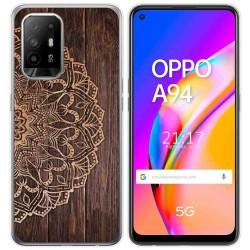 Funda Gel Tpu para Oppo A94 5G diseño Madera 06 Dibujos