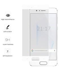 Protector Cristal Templado Frontal Completo Blanco para Huawei Honor 9 Vidrio