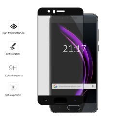 Protector Cristal Templado Frontal Completo Negro para Huawei Honor 9 Vidrio