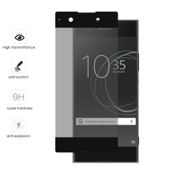 Protector Cristal Templado Frontal Completo Negro para Sony Xperia XA1 Vidrio