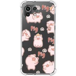 Funda Silicona Antigolpes para Xiaomi Mi 11 Lite 4G / 5G diseño Cerdos Dibujos