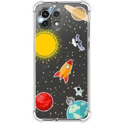 Funda Silicona Antigolpes para Xiaomi Mi 11 Lite 4G / 5G diseño Espacio Dibujos