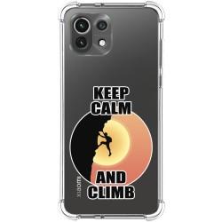 Funda Silicona Antigolpes para Xiaomi Mi 11 Lite 4G / 5G diseño Hombre Escalada Dibujos