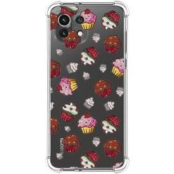 Funda Silicona Antigolpes para Xiaomi Mi 11 Lite 4G / 5G diseño Muffins Dibujos