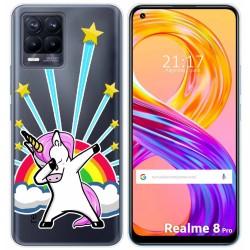 Funda Gel Transparente para Realme 8 Pro diseño Unicornio Dibujos