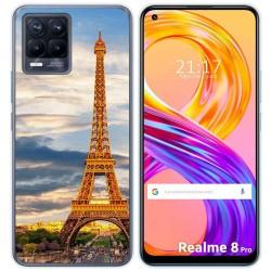 Funda Gel Tpu para Realme 8 Pro diseño Paris Dibujos