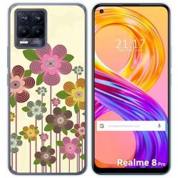 Funda Gel Tpu para Realme 8 Pro diseño Primavera En Flor Dibujos