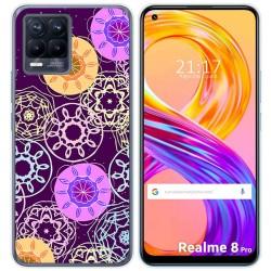 Funda Gel Tpu para Realme 8 Pro diseño Radial Dibujos