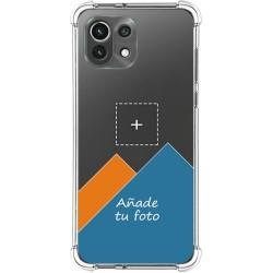 Personaliza tu Funda Silicona Anti-Golpes Transparente con tu Fotografía para Xiaomi Mi 11 Lite 4G / 5G personalizada