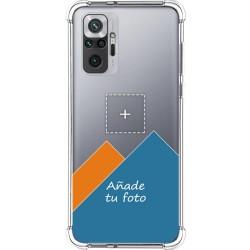 Personaliza tu Funda Silicona Anti-Golpes Transparente con tu Fotografía para Xiaomi Redmi Note 10 Pro personalizada