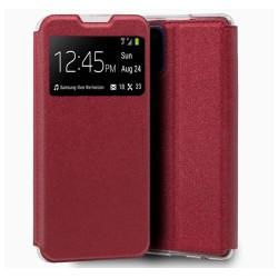 Funda Libro Soporte con Ventana para Xiaomi Mi 11 Lite 4G / 5G color Roja