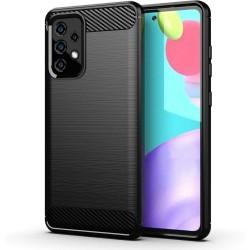 Funda Gel Tpu Tipo Carbon Negra para Samsung Galaxy A52 / A52 5G