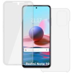 Funda Doble Transparente Pc + Tpu Full Body 360 para Xiaomi Redmi Note 10 / 10S