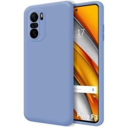 Funda Silicona Líquida Ultra Suave para Xiaomi POCO F3 5G color Azul