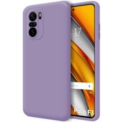 Funda Silicona Líquida Ultra Suave para Xiaomi POCO F3 5G color Morada