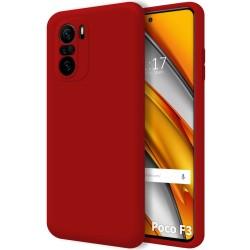 Funda Silicona Líquida Ultra Suave para Xiaomi POCO F3 5G color Roja