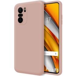 Funda Silicona Líquida Ultra Suave para Xiaomi POCO F3 5G color Rosa