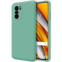 Funda Silicona Líquida Ultra Suave para Xiaomi POCO F3 5G color Verde