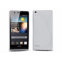 Funda Gel Tpu Huawei Ascend P6 S Line Color Blanca