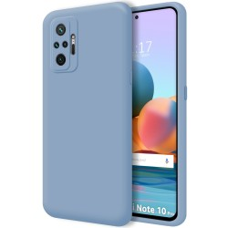 Funda Silicona Líquida Ultra Suave para Xiaomi Redmi Note 10 Pro color Azul