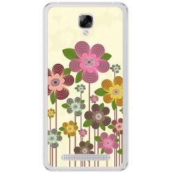Funda Gel Tpu para Doogee X10 Diseño Primavera En Flor  Dibujos