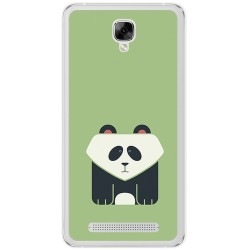 Funda Gel Tpu para Doogee X10 Diseño Panda Dibujos