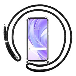 Funda Colgante Transparente para Xiaomi Mi 11 Lite 4G / 5G con Cordon Negro