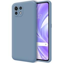 Funda Silicona Líquida Ultra Suave para Xiaomi Mi 11 Lite 4G / 5G color Azul