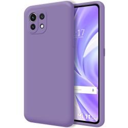 Funda Silicona Líquida Ultra Suave para Xiaomi Mi 11 Lite 4G / 5G color Morada