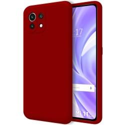 Funda Silicona Líquida Ultra Suave para Xiaomi Mi 11 Lite 4G / 5G color Roja