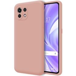 Funda Silicona Líquida Ultra Suave para Xiaomi Mi 11 Lite 4G / 5G color Rosa