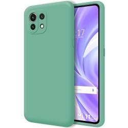 Funda Silicona Líquida Ultra Suave para Xiaomi Mi 11 Lite 4G / 5G color Verde