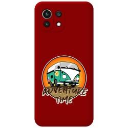 Funda Silicona Líquida Roja para Xiaomi Mi 11 Lite 4G / 5G diseño Adventure Time Dibujos