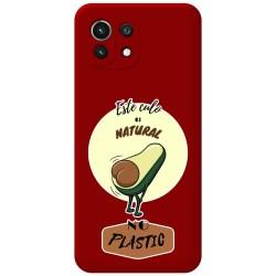 Funda Silicona Líquida Roja para Xiaomi Mi 11 Lite 4G / 5G diseño Culo Natural Dibujos