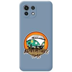 Funda Silicona Líquida Azul para Xiaomi Mi 11 Lite 4G / 5G diseño Adventure Time Dibujos