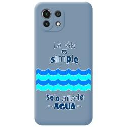 Funda Silicona Líquida Azul para Xiaomi Mi 11 Lite 4G / 5G diseño Agua Dibujos