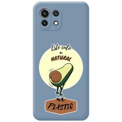 Funda Silicona Líquida Azul para Xiaomi Mi 11 Lite 4G / 5G diseño Culo Natural Dibujos