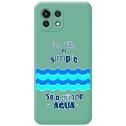 Funda Silicona Líquida Verde para Xiaomi Mi 11 Lite 4G / 5G diseño Agua Dibujos
