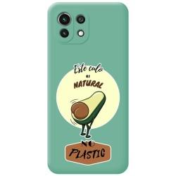 Funda Silicona Líquida Verde para Xiaomi Mi 11 Lite 4G / 5G diseño Culo Natural Dibujos