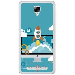Funda Gel Tpu para Doogee X10 Diseño Cohete Dibujos