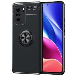 Funda Magnetica Soporte con Anillo Giratorio para Xiaomi POCO F3 5G Negra